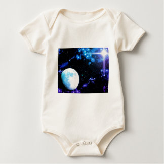 Blue Outer Space Baby Bodysuit