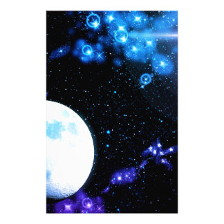 Blue Outer Space Stationery