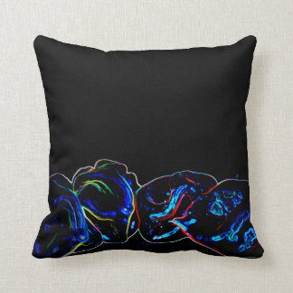 blue outline pepers dark neon cushions