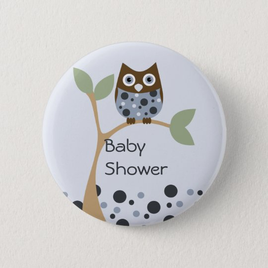 Blue Owl Baby 6 Cm Round Badge
