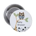 Blue Owl Baby 6 Cm Round Badge