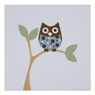 Blue Owl Baby Poster