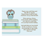 Blue Owl Baby Shower Book Insert Request Card Pack Of Chubby Business Cards