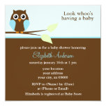Blue Owl Baby Shower Personalized Announcement