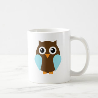 Blue Owl Basic White Mug