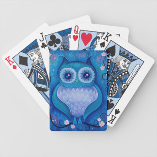 blue owl bicycle playing cards