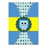 Blue Owl Birthday Invitation for Kids