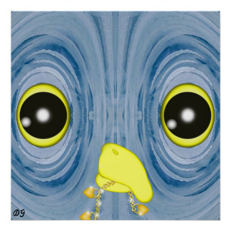 Blue Owl by Darlene Gauthier Poster