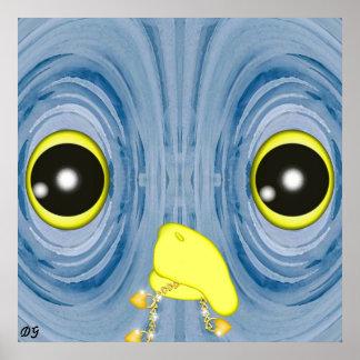 Blue Owl by Darlene Gauthier Poster