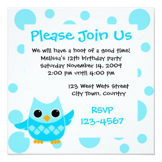 Blue Owl Card