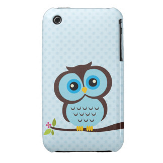 Blue Owl Case for iPhone 3 Case-Mate iPhone 3 Cases