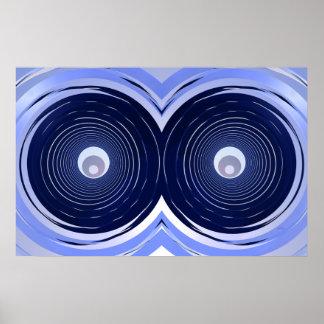 Blue Owl Eyes Poster