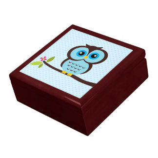 Blue Owl Illustration Gift Box