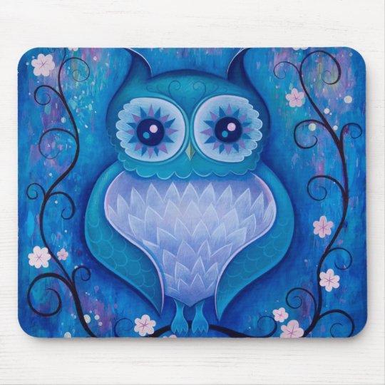 blue owl mouse mat