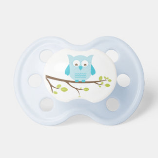 Blue Owl on a Branch Pacifier