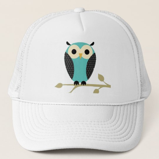 Blue Owl On Limb Cap