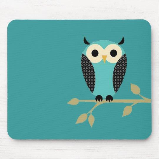 Blue Owl On Limb Mouse Mat