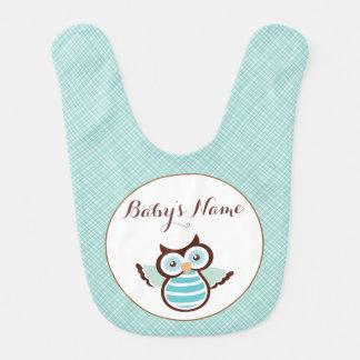 Blue Owl Personalized Baby Bib