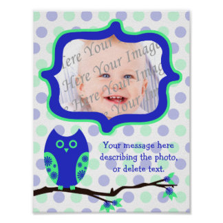 Blue Owl Personalized Scrapbook Page Poster