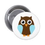 Blue Owl Pinback Buttons