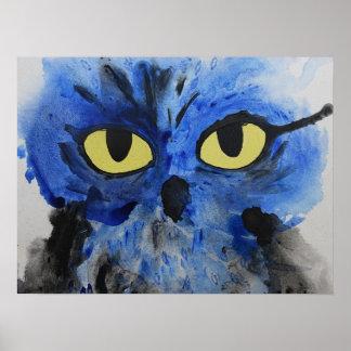Blue Owl Poster Print
