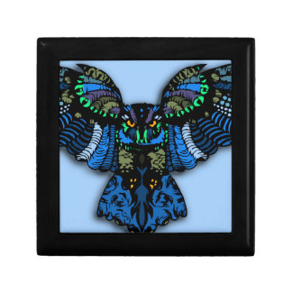 Blue Owl Small Square Gift Box