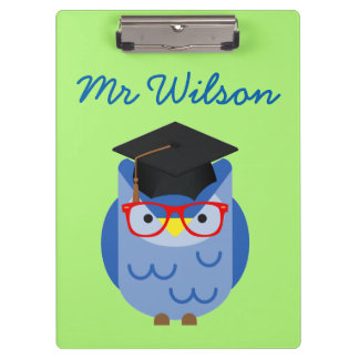 Blue Owl Teacher Customisable Clipboard