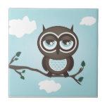 Blue Owl Trivet Tile