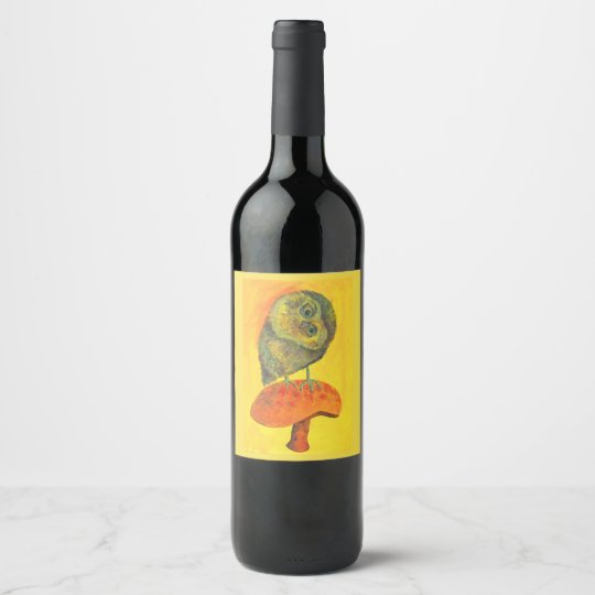 blue owl wine label