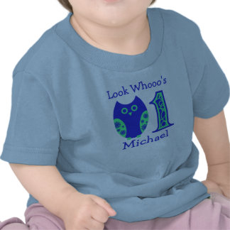 Blue Owls 1st Birthday Personalized T-Shirt