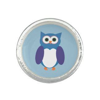 Blue Owly Ring