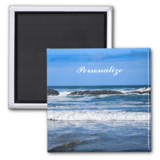 Blue Pacific Ocean With Name Magnet
