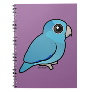 Blue Pacific Parrotlet Spiral Notebook