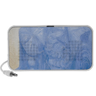 Blue Pagan Church surreal architecture Notebook Speakers