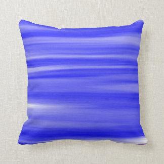 Blue Paint Art Design Abstract Cushion