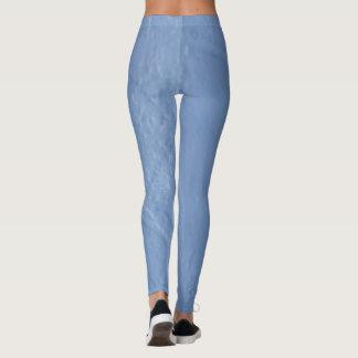 Blue paint design leggings