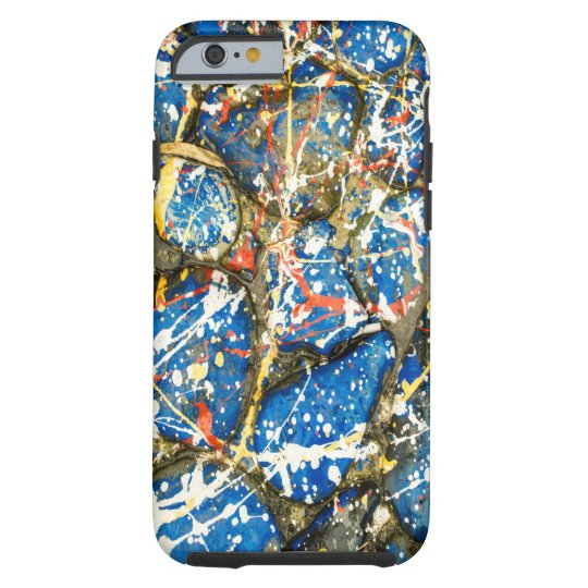 Blue Paint Drip Stones Phone Case Art