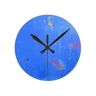 Blue paint grunge design clocks