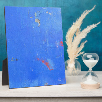 Blue paint grunge design plaque
