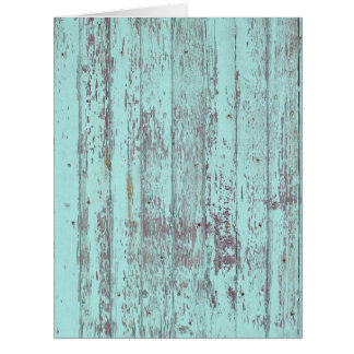 Blue paint old wooden wall card
