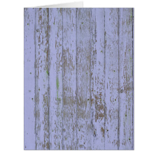 Blue paint old wooden wall greeting card