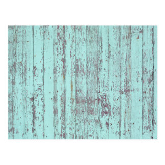 Blue paint old wooden wall post cards