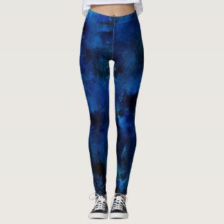 Blue Paint Splatter #3 Leggings