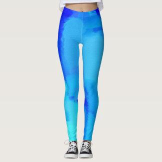Blue Paint Splatter #5 Leggings