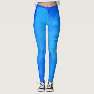 Blue Paint Splatter Leggings