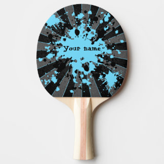 Blue paint splatters black and gray personalized
