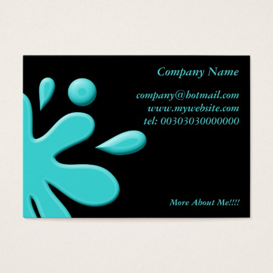 Blue Paint Splodge Business Card