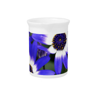 Blue Painted Daisies Pitcher