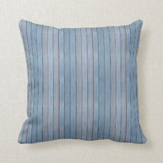 blue painted wood panels throw pillow