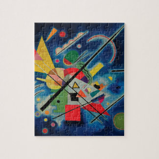 Blue Painting by Wassily Kandinsky Jigsaw Puzzle